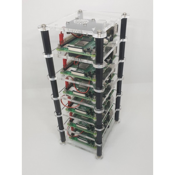 Raspberry Pi Cluster 6 Layer Rack for Raspberry Pi 4 or RPi3