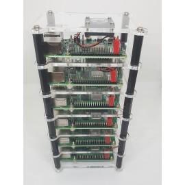 Raspberry Pi Cluster 6 Layer Rack for Raspberry Pi 4 or RPi3