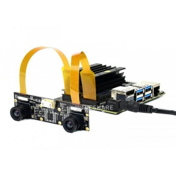 IMX219-83 Stereo Camera, 8MP Binocular Camera Module for Depth Vision
