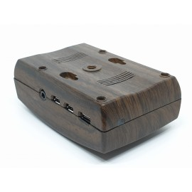 Raspberry Pi 4 Case with FAN - Model H1 (Privision to fit Camera inside) Wooden Finish