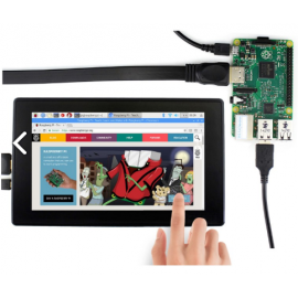 7inch Capacitive Touch Screen with Plastic ABS Case For Raspberry Pi