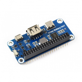 Li-ion Battery HAT for Raspberry Pi, 5V Output, Quick Charge