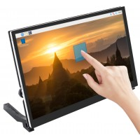 10.1 inch HDMI Capactive Touch LCD 1024x600 with speakers and Raspberry Pi Mount