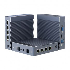 x86 Mini PC with 4 Intel Gigabit Ethernet (4GB RAM, 64GB SSD)