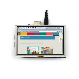 5inch Touch Screen LCD for Raspberry Pi with HDMI Interface (with bicolour case)