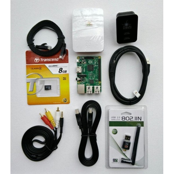 Raspberry Pi 2 (1GB RAM) Complete Kit + Free WiFi Dongle and RCA Cable