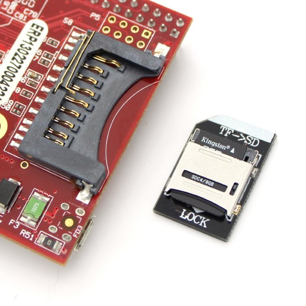 Low Profile SD Card Adapter for Raspberry Pi
