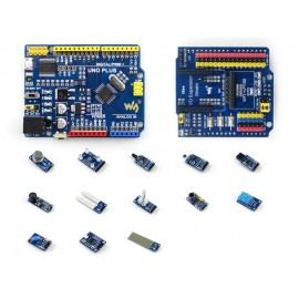 Arduino Uno Plus Package with Sensors and IO Expansion Shield